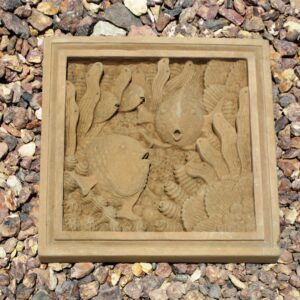 Fish Plaque Brown (11.75″x11.75″x1.5″)