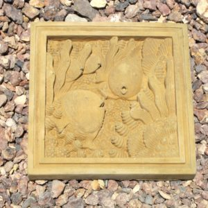Fish Plaque Natural (11.75″x11.75″x1.5″)