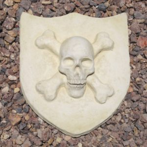 Skull & Crossbones Plaque (13″x15″x4.5″)